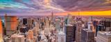 Fototapety Paesaggio di città di new york con grattaciel