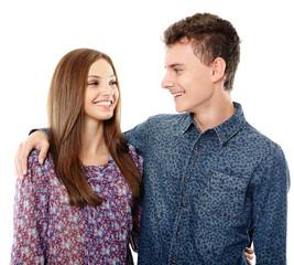 Teenage boy and his girlfriend