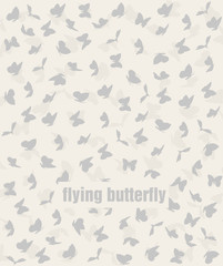 pattern of flying butterflies in pastel