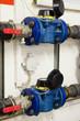 Leinwandbild Motiv Industrial water meter