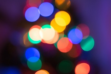 Abstract Christmas Bokeh Light Background