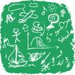 School Doodle grunge texture