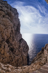 Italy, Sardinia, Alghero, view of the Capo Caccia promontory