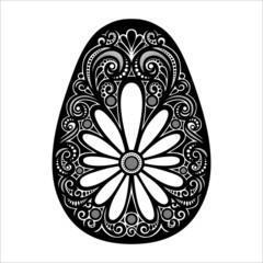 Holiday Ornate Easter Egg (Vector). Patterned Design