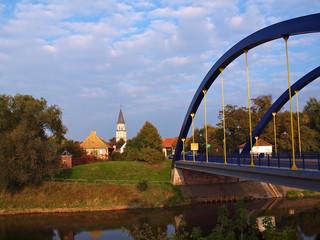Sachsen-Anhalt - Stadtkirche und Muldebrücke Bad Düben
