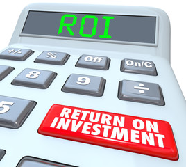 Return on Investment ROI Calculator Button Words
