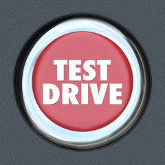 Test Drive Red Round Ignition Car Start Button