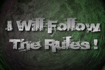 I Will Follow The Rules