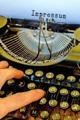 Alte Schreibmaschine, Impressum Wort