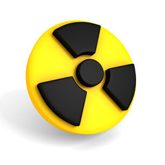 nuclear symbol on white background