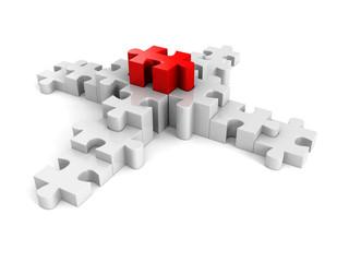 puzzle success financial bar chart graph