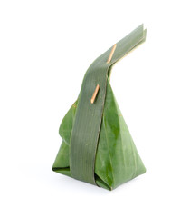 Banana leaf one of materials from nature apply to packaging dess