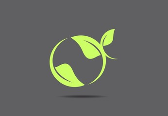 nature leaf plant spa vector logo