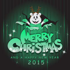 Merry Christmas Cartoon Background - Vector Illustration