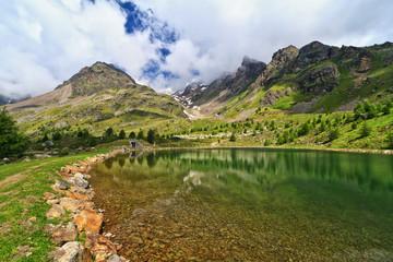Trentino - Doss dei Gembri lake in Pejo valley