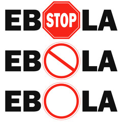 3 stop sign Ebola virus