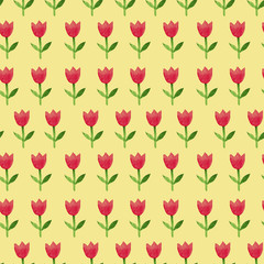 tulip seamless pattern