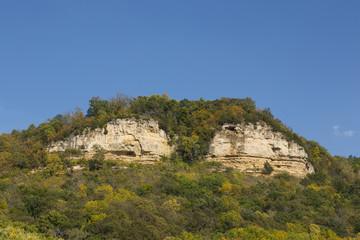 Twin Bluffs In Autumn