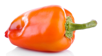 Orange pepper isolated on white