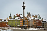 Fototapety Warsaw Old Town in Winter