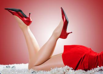 Schuhe für Weihnachtsfrau