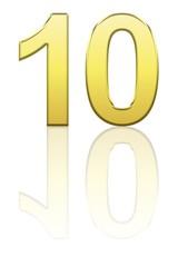 10 gold avec reflet