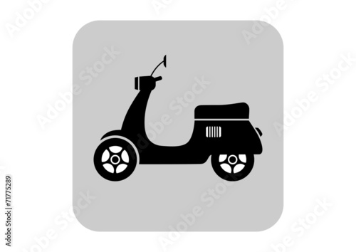 Scooter vector icon - 71775289