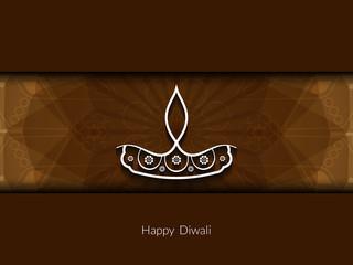 Happy Diwali vector greeting card design.