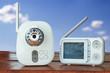 Leinwanddruck Bild - The clouse-up baby monitor