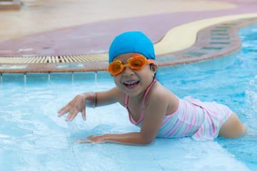 cute little swimmer girl
