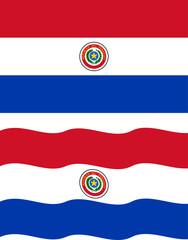 Flat and waving Paraguayan Flag. Vector