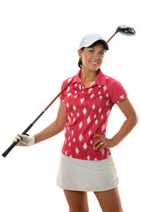 Young Woman With Golf Club