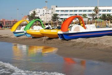 Hidropedal en la playa