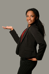 Woman Presenting with Palm Up
