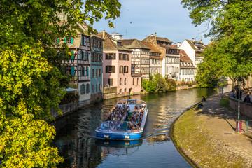 Excursion boat in Strasbourg - Alsace, France