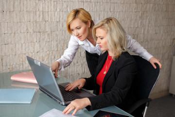 Two confident business ladies
