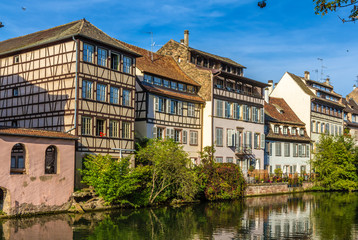 Buildings over the Ill river in Strasbourg