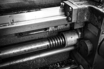 Lead screw move the caliper of the machine tool