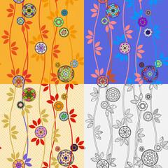 Four Patterns with Japanese Temari Balls
