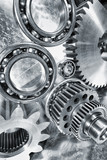 cogwheels and bearings, titanium and steel endurance poster
