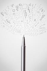 Pen drawing sketchy arrows