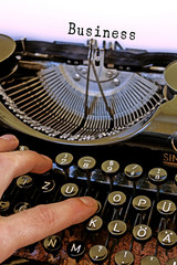 Alte Schreibmaschine, Business Wort