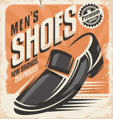 Retro shoes poster