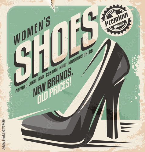 retro-buty-sklep-promocyjny-projekt-plakatu