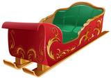 Christmas Santa's sleigh isolated - 71779629