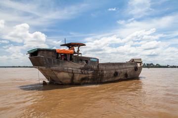 Cargo ships in Saigon river. Vietnam.
