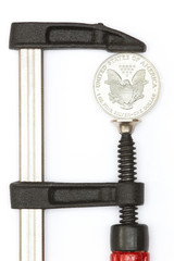 Dollar in clamp