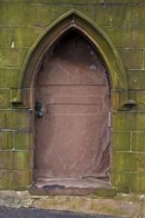 metal door to a crypt