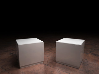 empty pedestals
