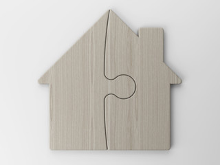 symbol of a house with clipping path